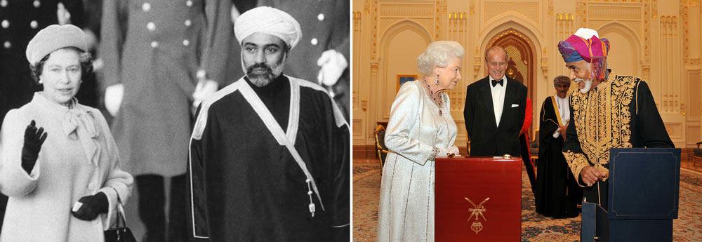 Sultan Qaboos and Queen Elizabeth II