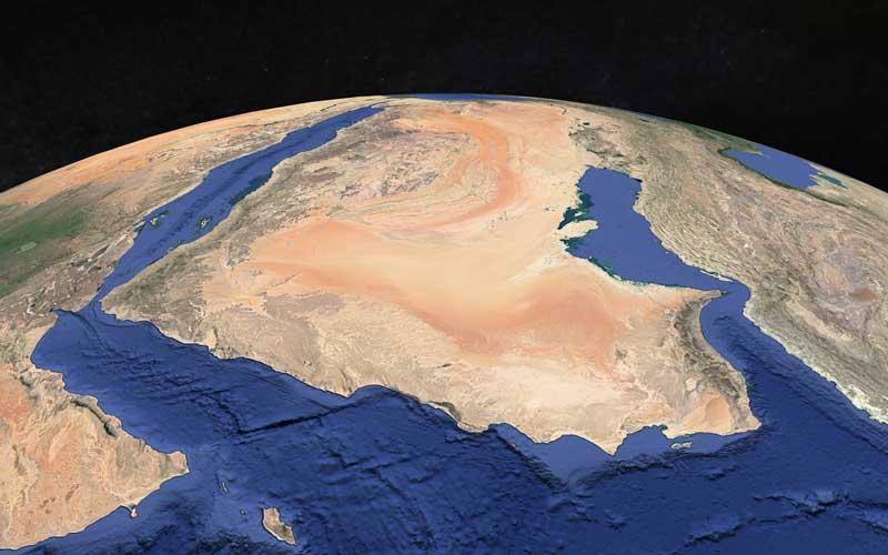 Oman globe view